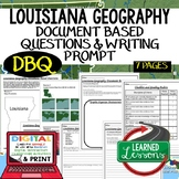 Louisiana Geography Document Based Questions DBQ (Paper an