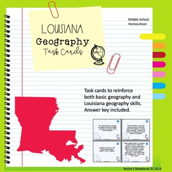 Louisiana Geography Skills Task Cards