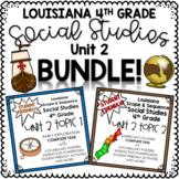 Louisiana Grade 4 Social Studies Unit 2 (Complete Task, Topics 1-2) BUNDLE!