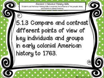 Louisiana Grade 5 Social Studies GLEs 2011 Complete Poster Set Green