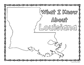 Louisiana Graphic Organizers (Perfect for KWL charts and geography!)