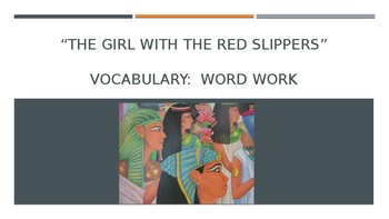 Louisiana Guidebook: The Girl with the Red Slippers Vocabulary (Cinderella Unit)