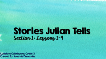 Louisiana Guidebooks 2.0: Stories Julian Tells: Section 1 (Lessons 1-4) PPTs