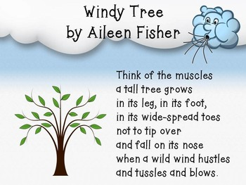 """Windy Tree by Aileen Fisher and poem """"Wind"""" PowerPoint and"""