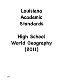 Louisiana High School Geography Social Studies I Can State