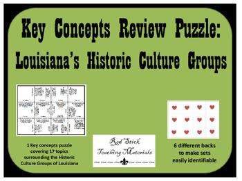 Louisiana Historic Culture Groups Key Concept Puzzle