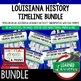 Louisiana History 1803-1859 Timeline, Digital Interactive Notebook, PRINT