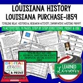 Louisiana History 1803-1859 Timeline, Digital Distance Lea
