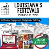 Louisiana History Festivals Picture Puzzle, Test Prep, Uni