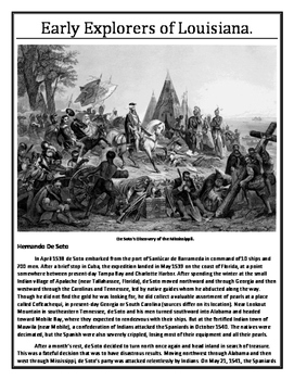 Louisiana History - Unit 2A Part A - French Colonial Period - 8th Grade