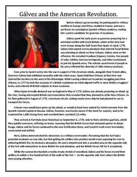 Louisiana History - Gálvez and the American Revolution
