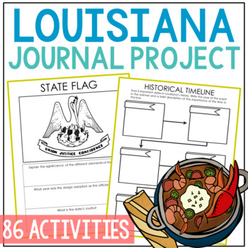 Louisiana History Guided Research Project, Notebook Journal Pages
