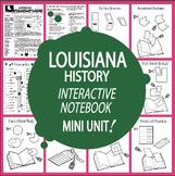 Louisiana History Interactive Bundle–12 Louisiana State Study Lessons