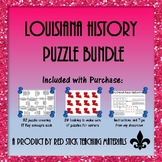 Louisiana History Key Concepts Puzzle Bundle
