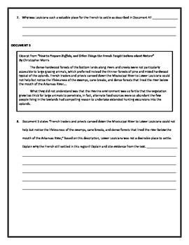 Louisiana History - Louisiana's Settlements DBQ