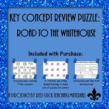 Road to the Whitehouse!  Electing a president Key Concept Puzzle