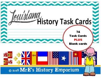 Louisiana - History Task Cards