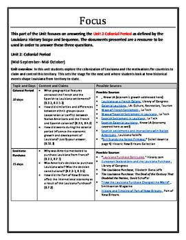 Complete Unit 2 - Colonial Period–Louisiana Purchase  - 8th Grade