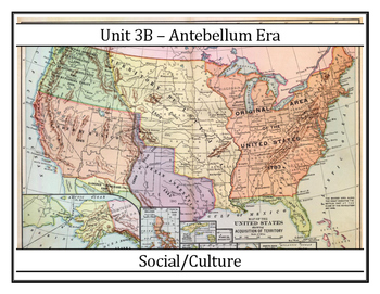 Louisiana History - Unit 3B - Antebellum Social/Culture