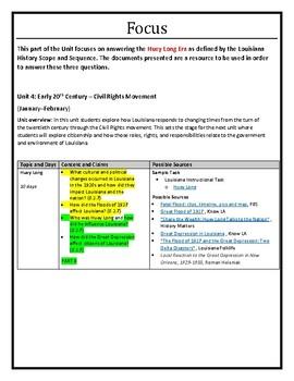 Louisiana History - Unit 4B - Huey Long Era - Part A - 8th Grade