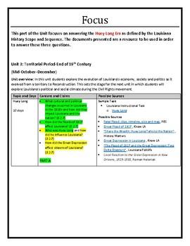 Louisiana History - Unit 4B - Huey Long Era - Part B - 8th Grade