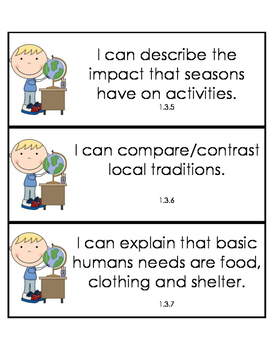 Louisiana I Can Statements for Social Studies