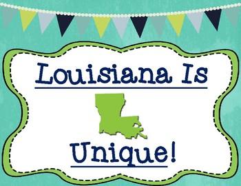 Louisiana Is Unique Graphic Organizer