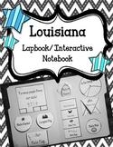 Louisiana Lapbook/Interactive Notebook.  US State History and Geography