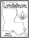 Louisiana Learning Log for Lapin Plays Possum ELA Guidebook Unit