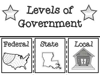 Louisiana Levels of Government Note Taking Flip Book and Close Reading Article