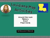 Louisiana Map Activity Cards