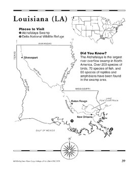 Louisiana (Map & Facts)