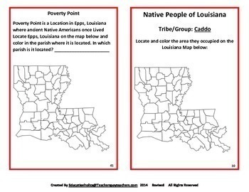 Louisiana Native American Interactive Notebook