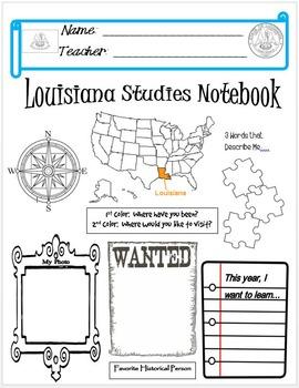 Louisiana Notebook Cover