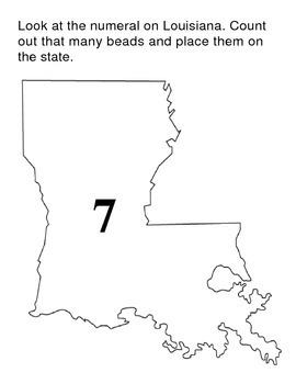 Louisiana Numeral Counting Mats