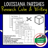 Louisiana Parishes Activity Research Cube with Writing Extension Activity Pack