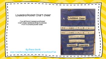 Louisiana Pocket Chart Cheer
