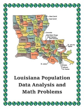Louisiana Data Analysis and Math Word Problems on the Population of Louisiana
