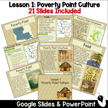 Louisiana Poverty Point Native Americans Culture and Artifacts Aligned to State