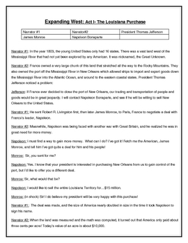 Louisiana Purchase - A One Page Reader's Theater