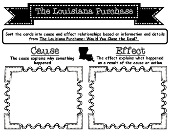 Louisiana Purchase Cause and Effect Sorting Activity