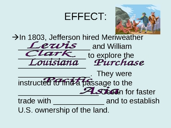 Louisiana Purchase - Causes & Effects PowerPoint