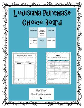 Louisiana Purchase Choice Board