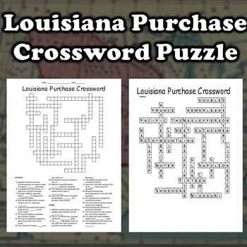 Louisiana Purchase Crossword (Lewis and Clark)