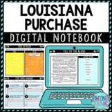 Louisiana Purchase DIGITAL Interactive Notebook | Choice Board