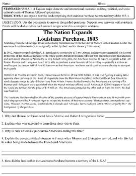 Louisiana Purchase Document Analysis