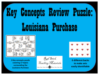 Louisiana Purchase Key Concepts Puzzle