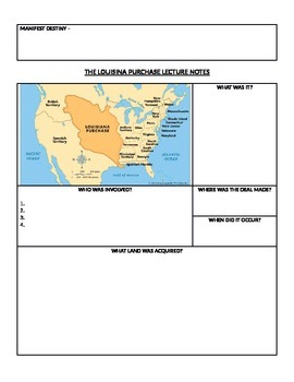 Louisiana Purchase Lecture Notes and G.O.