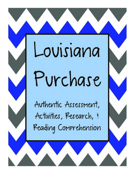 Louisiana Purchase Mini Unit {Authentic Assessment, Activities, and More!}