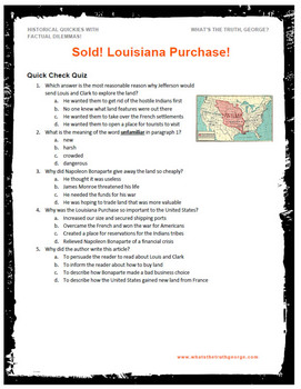 Louisiana Purchase Podcast Classroom Package! American History